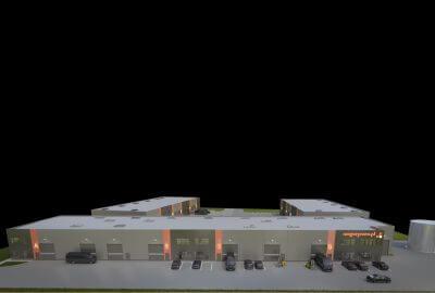 Wizualizacja budynku Magazynovo